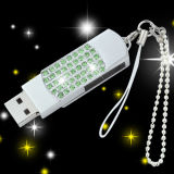 Mecanismo impulsor cristalino del flash del USB del eslabón giratorio del metal de memoria Flash del USB