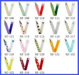 Nuovo Design Universal Pacifier Clips Baby Pacifier Clip con Ribbon Novelty Pacifier Clip Wholesale
