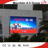 Tabellone per le affissioni impermeabile esterno della visualizzazione di LED di colore completo del TUFFO dell'ali P10 della montagna