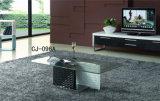 Vierecks-ausgeglichenes Glas-Kaffeetisch-Glaswohnzimmer-Möbel (CJ-096A)