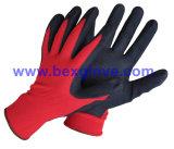 Вкладыш 13 датчиков Nylon, покрытие нитрила, перчатки безопасности отделки Sandy