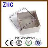 Contenitore di interruttore impermeabile di plastica del coperchio della radura di allegato dell'ABS di vendita diretta 80*250*70