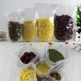Malote laminado transparente de pé do alimento com fechamento do fecho de correr/saco plástico da embalagem com Ziplock (ML-E14)