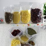 Fastfood- transparenter lamellierter Nahrungsmittelbeutel mit Reißverschluss-Verschluss/Plastikverpackungs-Beutel mit Reißverschluss (ML-E14)
