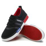 Zapato de lona ocasional de goma del muchacho único
