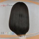 Häutchen-schwarze Jungfrau-Haar-unberührte Spitze-Silk Spitzenfrauen-Perücke