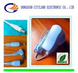 C.C Adapter à C.A. de 8W White 5V 1.5A Universal avec VDE Plug