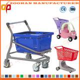 Supermarkt-Einkaufen-Plastikkarren-Korb-Laufkatze (ZHt286)