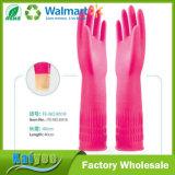 El guante revestido del látex largo de la cocina del hogar, sin forro y la multitud alineada alargan guantes