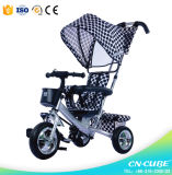 4/1 de carro do impulso caçoa o assento dobro do triciclo/triciclo para o bebê Trike das crianças/três rodas
