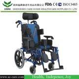 適した子供最上質の横たわる軽量アルミニウム手動子供の車椅子7-15年の