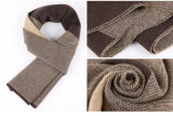 人の方法ウールのナイロンアクリルの編まれた暖かい冬のスカーフ(YKY4618)