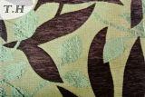 셔닐 실 자카드 직물 소파 피복의 다채로운 잎 모양 디자인