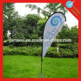 Флаг ветра пляжа лезвия логоса компании выдвиженческий
