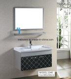 Module de salle de bains noir d'acier inoxydable de 80cm