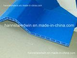 Panneau de mur matériel de feuille de toit de PVC de forme creuse ondulée