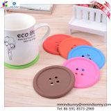Mugのための創造的なButton Shape Silicone Coaster