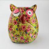 Gufo di ceramica animale Paintable all'ingrosso del contenitore di soldi di disegno