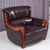 Sofá de cuero genuino de asiento simple (910)