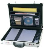 Caja de aluminio de la computadora portátil de la cartera de la maneta de plata de encargo profesional