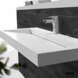 Lavabo di superficie solido della stanza da bagno della pietra della resina di prezzi competitivi (161025)