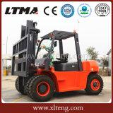 Ltma 5t Dieselgabelstapler mit doppelten vorderen Gummireifen
