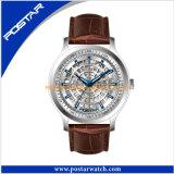 Vigilanza impermeabile del quarzo dell'orologio dell'acciaio inossidabile di alta qualità
