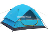 De in het groot Dubbele OpenluchtTent van de Laag, Blauwe het Kamperen van Drie Seizoenen Tent