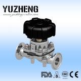 Tipo sanitario válvula de diafragma Dn25 de Yuzheng U