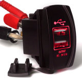トヨタのためのCarling Style Rocker Switch USB Car Charger