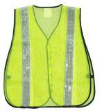 Maglia nera di sicurezza della maglia con la striscia riflettente bianca