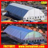 la cupola poligonale di alluminio di 30m conclude l'evento permanente della tenda della struttura