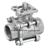 3 PC Sanitary Ball Valve con l'iso 5211