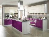 Conjunto de armário de cozinha de MDF de acrílico de alto brilho