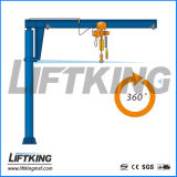 Oficina Fixed Slewing Kbk Jib Crane com Electric Chain Hoist, Liftking Brand Crane Manufacturer com ISO e CE Certificate