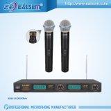 Système sans fil élevé de microphone de VHF KTV de bonne qualité Handholder/clip/écouteur