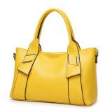 Signora di cuoio Woman Tote Handbag dello stilista dell'unità di elaborazione del nuovo reticolo alla moda del litchi