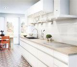 Weißer hoher Glanz-modularer Küche-Schrank