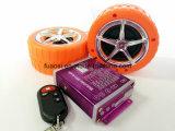 MP3 sistema de alarma de audio de la motocicleta con la rueda Shapre altavoz