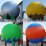 Populäres grosses Helium aufblasbares Kurbelgehäuse-Belüftung, das blaues Luftschiff bekanntmacht