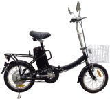 Mini E-Bicicleta de dobramento da cidade com cesta e farol do diodo emissor de luz (FB-006)