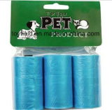 Sacchetto di plastica dello spreco del cane di Unscented del sacchetto di Poop dell'animale domestico