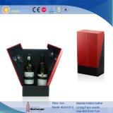 Abrir la puerta en la caja de encargo de cuero delantera del vino de la PU