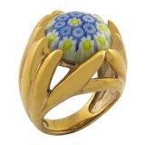 Mujeres de la India que Wedding el anillo del recuerdo del oro 18k