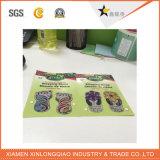 PE impermeable de la etiqueta de papel de impresión de etiquetas vinilo autoadhesivo etiqueta de la pared