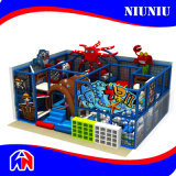 Trampoline interno Playground com Slide Equipment