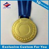 De antieke Gouden Zilveren Medaille van de Sporten van het Brons Lege met Zandig Effect
