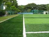 完全なフットボール競技場の合成物質の芝生