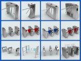 Système bi-directionnel d'entrée de porte du tourniquet RFID d'automation de porte de barrière d'aileron de demi de taille d'usine de la Chine de sécurité de prestige