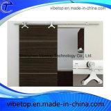 Оборудование раздвижных дверей ванной комнаты нержавеющей стали стеклянное